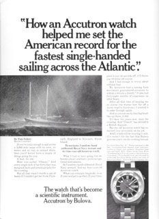 Click to the Bulova Accutron Commercial starring Tom Follet